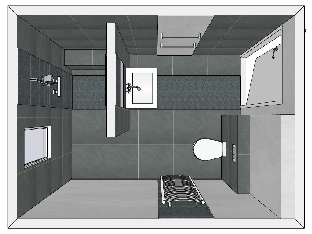 Badkamer met muurtje: meer dan idee?n over douchecabine op douche ...